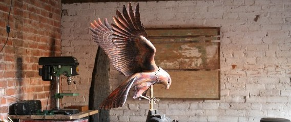 Hawk Weathervane in progress