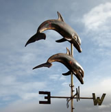Two Leaping Dolphins Weathervane