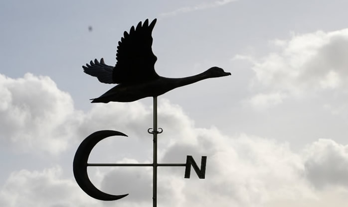 Swan in Flight Weathervane